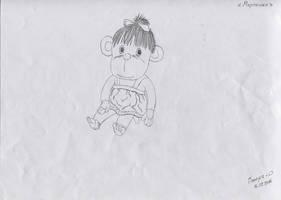 A little monkey by valera-rozuvan