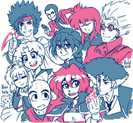 90s Anime Doodle by GuilhermeRM