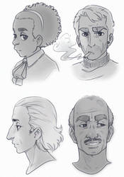 Old-timey sketches by GuilhermeRM
