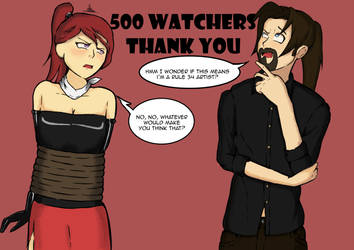 500 watchers by Thedawidow