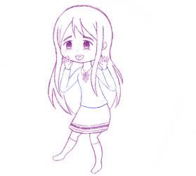 MS Paint doodle #8: Tsumugi Kotobuki (update) by Jelly187