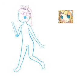 MS Paint doodle #9: Rin WIP by Jelly187