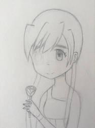 Sketchbook #2 : Rose girl WIP by Jelly187