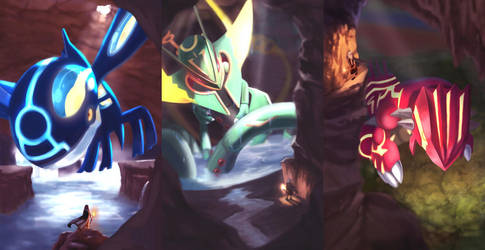 Hoenn Legendaries by TheKiwiSlayer