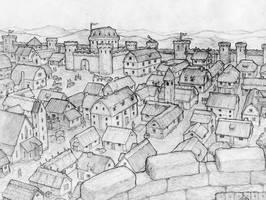 City at storm head plains by eagi