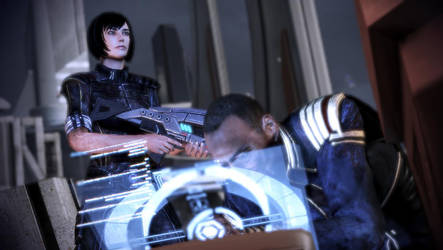 Mass Effect 3: Shepard and Anderson - Radio by PK-chan