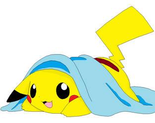 Pikachu lineart colored by Demetri1241