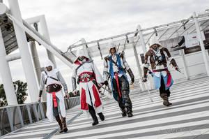 Altair-Ezio-Connor-Edward Cosplay _ ACcosplayITA by 6Silver9