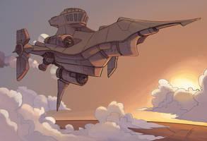 Airship by Rhubarbarian