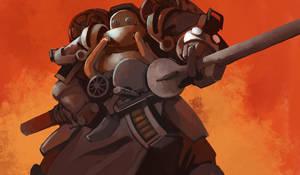Steam trooper by Rhubarbarian