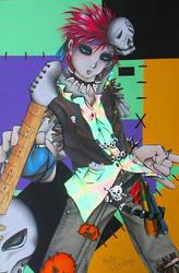 Punk Emo Gaara by LadyTwlightMidas