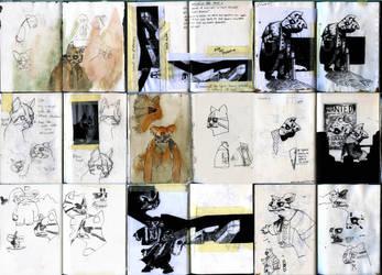 Sketchbook Montage 01 by benjaminography