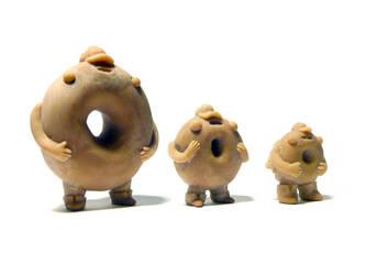 Donut Boy Figures WIP - fronts by benjaminography
