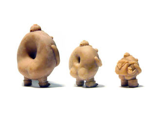 Donut Boy Figures WIP - butts by benjaminography