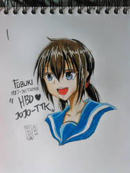 Doodle, Fubuki Kantai Collection (Colored Version) by Ade-Nyungsep
