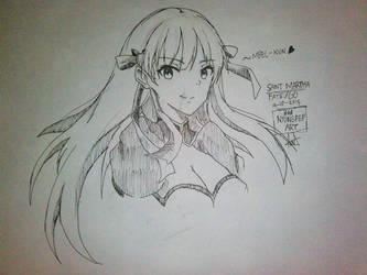 Doodle: Saint Martha, Fate/Grand Order by Ade-Nyungsep