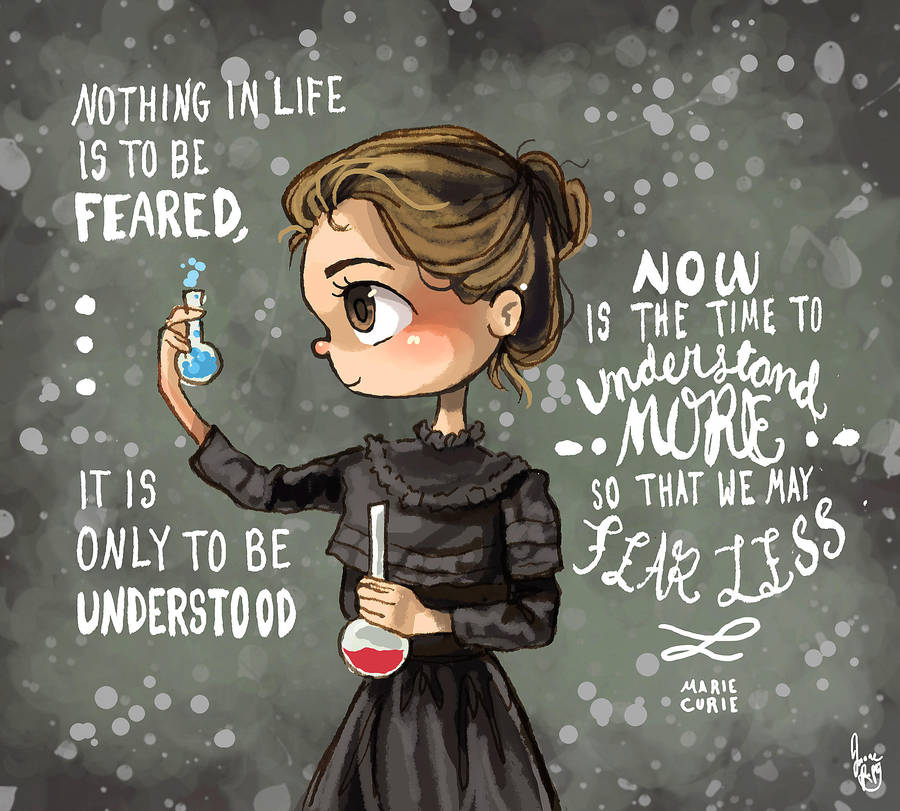 It is an image of Persnickety Marie Curie Drawing