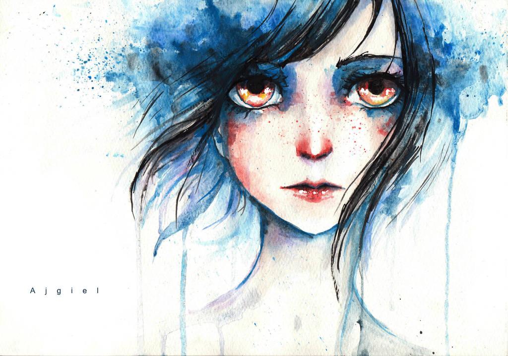 Blue Girl by Ajgiel