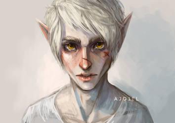 Pale elf by Ajgiel