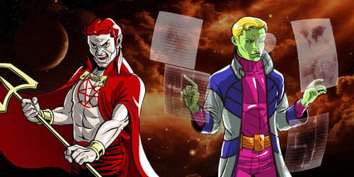 Son of Satan, Brainiac 5 Twitter Header by mrkayak