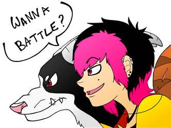 Wanna battle? by Nimyosa