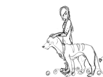 A trainer and her best friend by Nimyosa