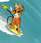 Surfing Chus by SesshaXIII