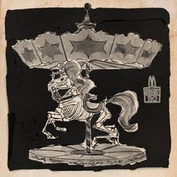 Drawtober 4: Carousel Curse by UsagiRo