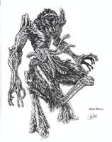 Lovecraft's Wilbur Whatley by hadesillustrations
