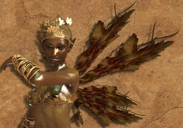 Autumn Fairy by dragonkat216