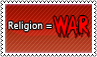Religion is war by black-cat16-stamps