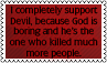 God and Devil by black-cat16-stamps