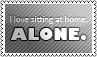 Sitting at home by black-cat16-stamps