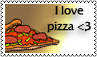 I love pizza by black-cat16-stamps