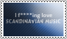 Scandinavian music stamp by black-cat16-stamps