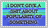 Don't give a shit by black-cat16-stamps