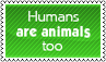 Humans are animals too by black-cat16-stamps