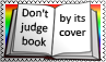 Don't judge book by its cover by black-cat16-stamps