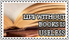 Life without books by black-cat16-stamps