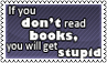 Reading books II by black-cat16-stamps