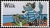 Wilk i zajac by black-cat16-stamps