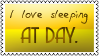 Sleeping at day by black-cat16-stamps