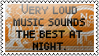 Loud music by black-cat16-stamps