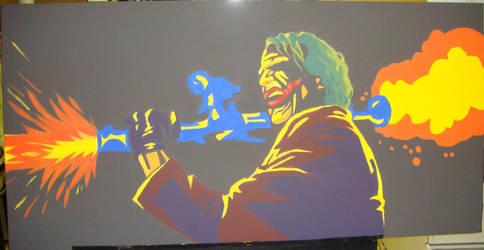Joker Acrylic Modern Art by darknight7