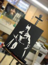 BlackWhite Dark Knight by darknight7
