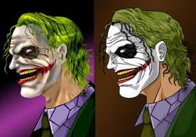Joker: 3D vs Animated by darknight7
