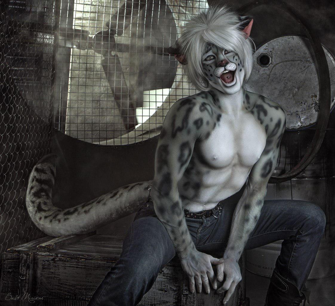 Gabriel. The Snow Leopard. (5) Cat makeup. by Kittenboy