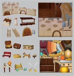 Castle asset set by EllaKoo