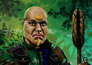 Teal'c by Augala