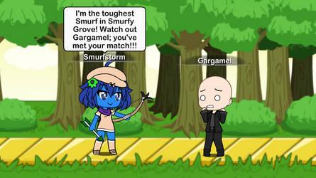Smurfstorm takes on Gargamel by winvistauser001